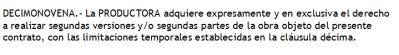 clausula-serie Contrato de guion: cláusula de segundas partes