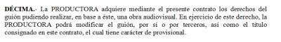 Contrato de guion: cláusula de segundas partes, La solución elegante