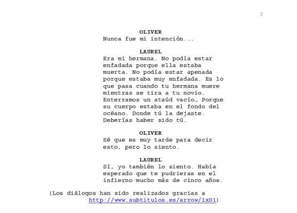 Arrow - Encuentro entre Oliver y Laurel - Piloto 3