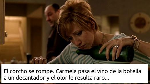 El apestoso vino de Los Soprano, La solución elegante