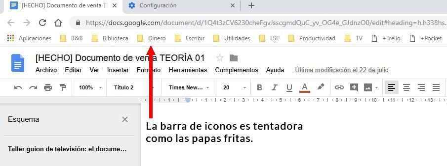 Cómo escribir guiones con Google Docs, La solución elegante