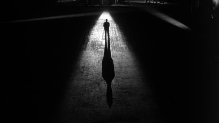 Alfred Hitchcock en 'Falso culpable'.